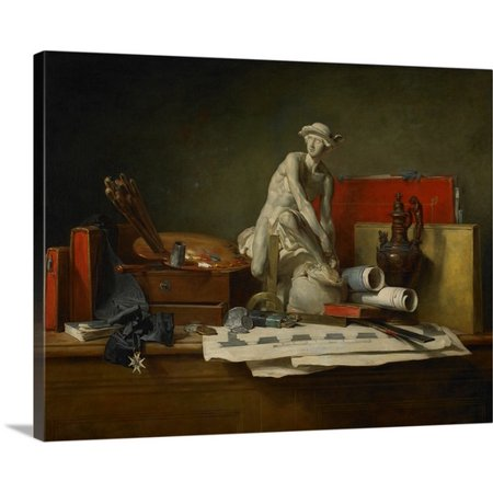 Great Big Canvas Jean Baptiste Simeon Chardin Premium Thick Wrap Canvas Entitled The Attributes Of The Arts And The Rewards Which Are