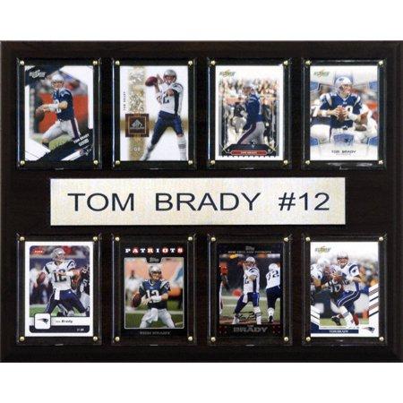 C Collectables Nfl 12X15 Tom Brady New England Patriots 8 Card Plaque