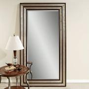 Silver Leaf & Black Accent Floor Leaner Mirror