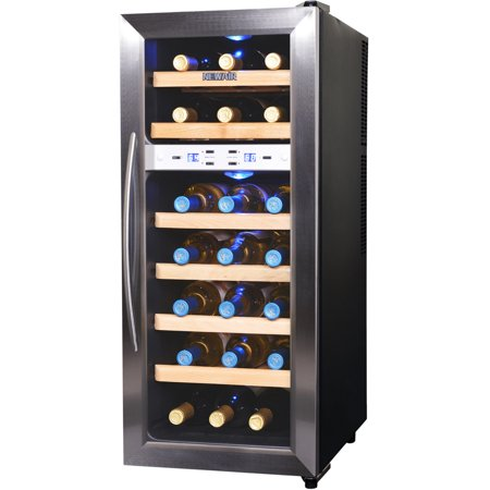 NewAir 21-Bottle Thermoelectric Wine Refrigerator, Stainless Steel and
