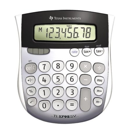 TI-1795 SV Standard Function Calculator, Angled SuperView display for easy viewing By Texas