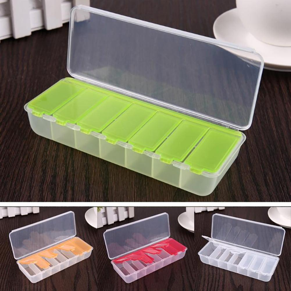 Heepo Portable 7 Compartments Travel Pill Box Medicine Drug Storage Container Case