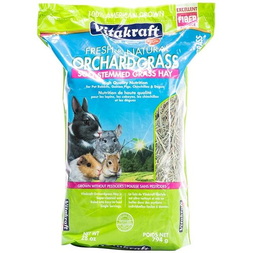 VitaKraft Vitakraft Orchard Grass Soft Stemmed Grass Hay 28 Ounce