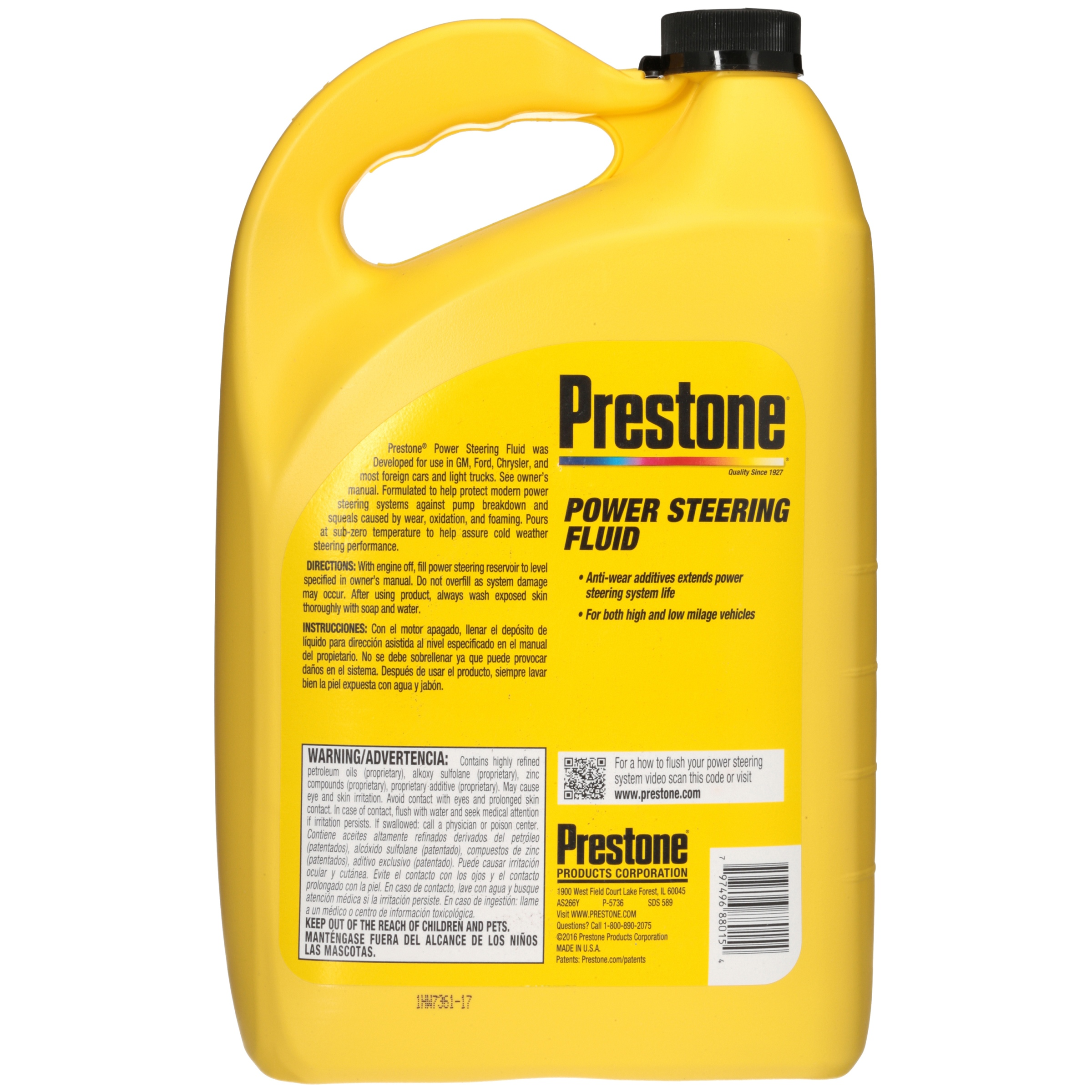 Prestone® Power Steering Fluid 1 gal  Jug - Walmart com