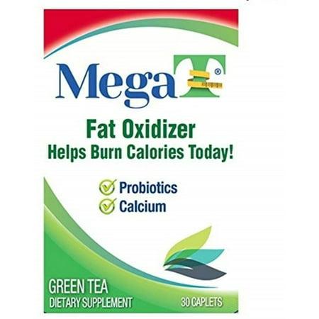 Barley Green Caplets - MEGA-T Green Tea Caplets With Calcium And Probiotics, 30 ea