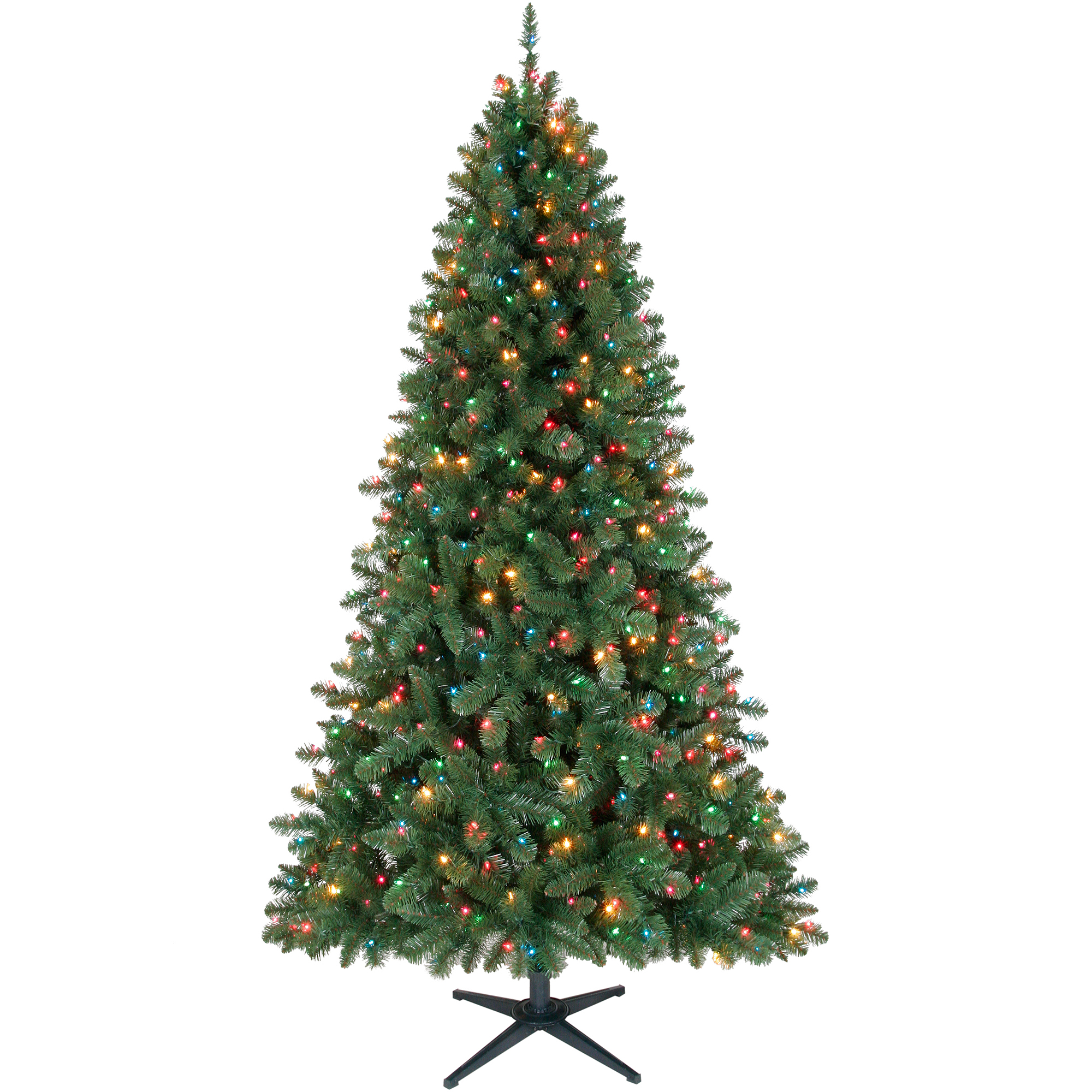Holiday Time Pre-Lit 7' Duncan Christmas Tree, Green ...
