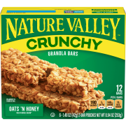 Nature Valley Crunchy Granola Bars, Oats 'n Honey, 12 Ct, 8.94 Oz