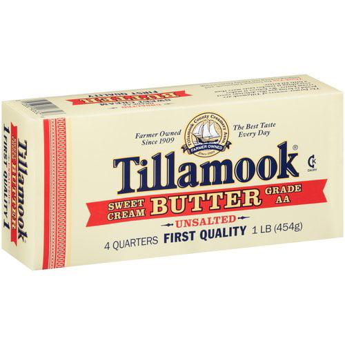 Tillamook Sweet Cream Unsalted Butter, 1 lb