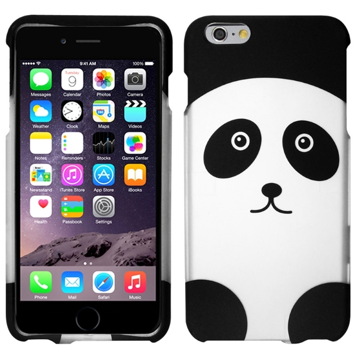 Insten Panda Bear Hard Rubber Coated Cover Case For iPhone 6 Plus / 6S Plus 5.5""