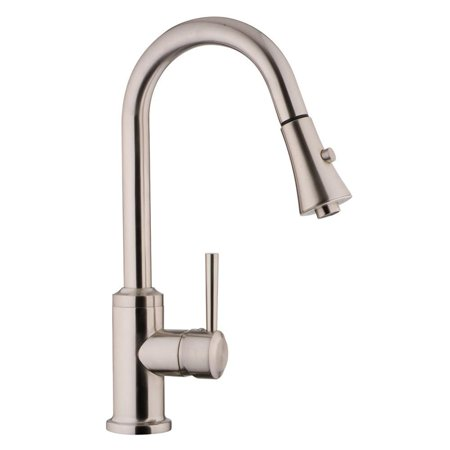Fontaine  Euro Pull Down Brushed Nickel Kitchen Faucet