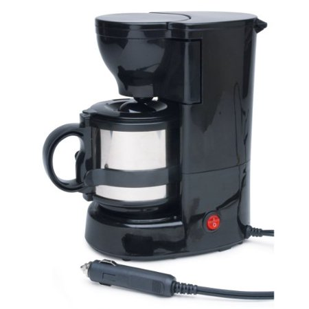 Roadpro RPSC-784 12-Volt Quick Cup Coffee Maker with 16 oz. Metal Carafe Multi-Colored