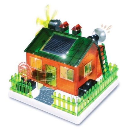 TEDCO Rare DIY Eco House Solar Kit! For Ages 8+ Easy build-it-yourself solar eco house operates on natural sunlight or on batteries when - Eco Kit House