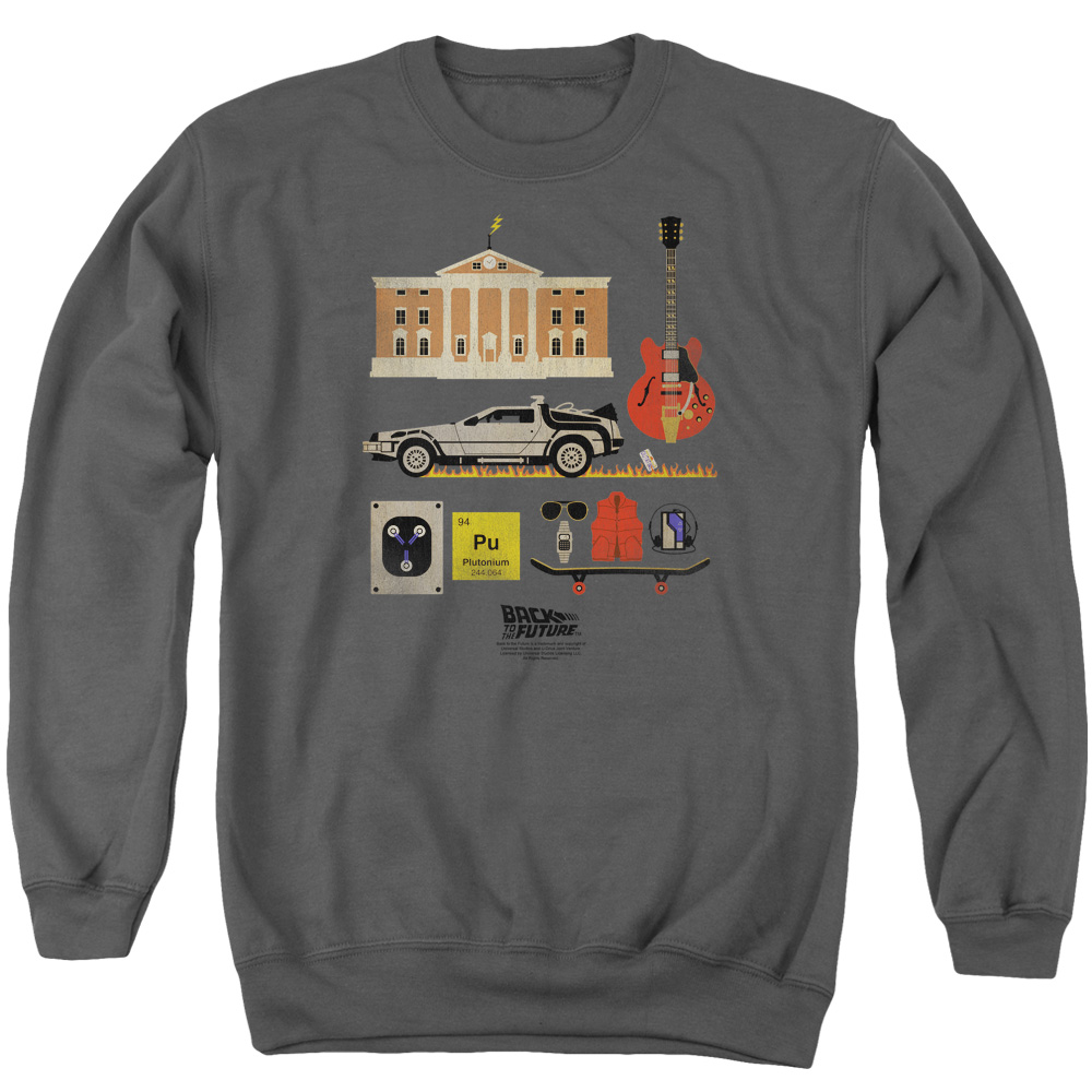 Back To The Future Items Mens Crewneck Sweatshirt