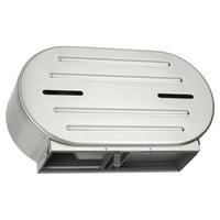 """ASI® 0040, Surface Mounted Twin 9"""" Jumbo Roll Toilet Tissue Dispenser"""