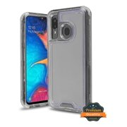 Samsung Galaxy A20 Phone Case Hybrid Full-Body Shockproof Frame Bumper Hard PC & Soft TPU Rubber Silicone 3 Layers Protective Case SMOKE Transparent Cover for Samsung Galaxy A20 /A205