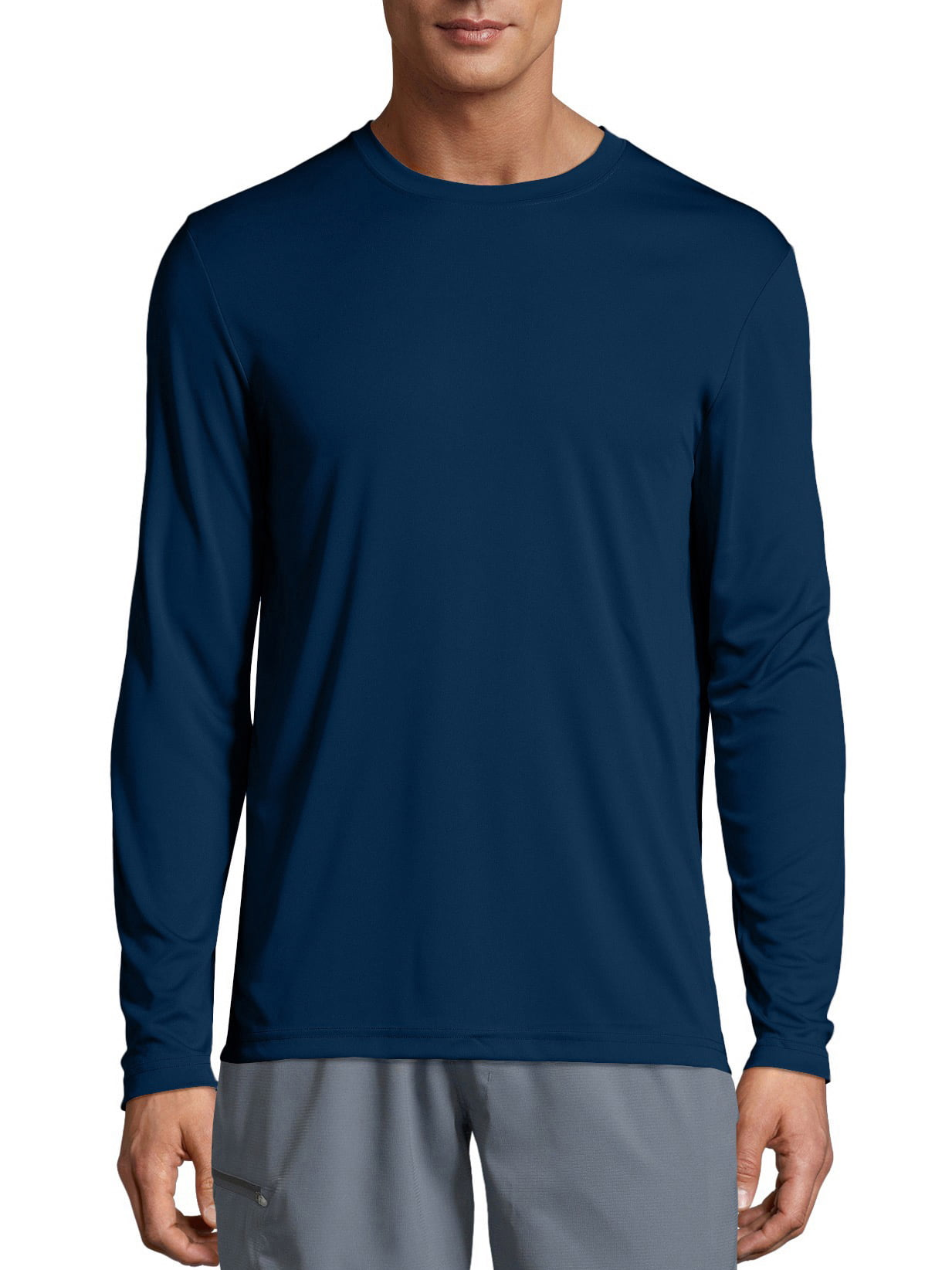 SKATE LIFE FLORAL SKATER RIDE AIR HIGH BEACH Mens Navy Long Sleeve T-Shirt