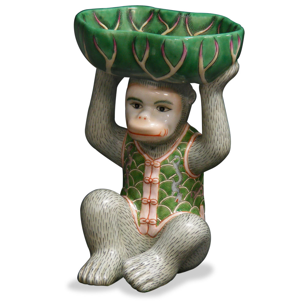 China Furniture and Arts Ceramic Monkey Figurine Soap Hol...