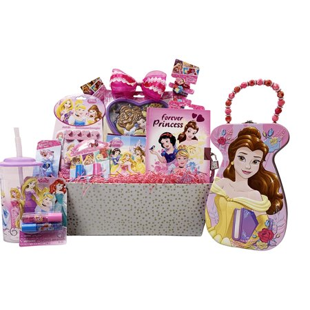 Girls Gift Baskets – Disney Princess Themed Gifts Idea for Girls Wish her Happy Birthday, Get Well (10 Jewelry & Cosmetics Items) - Hollywood Theme Ideas