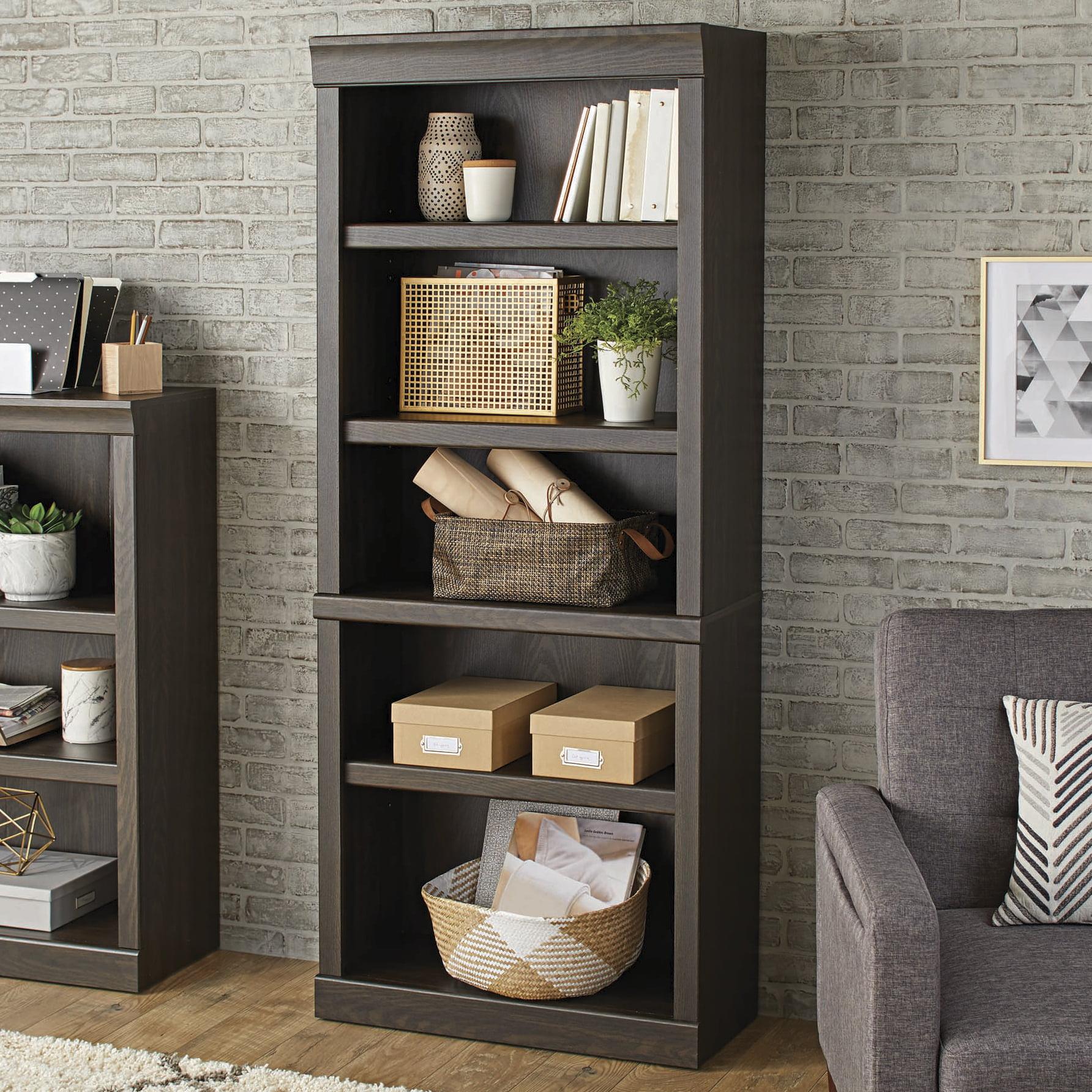 Better Homes & Gardens Glendale 5 Shelf Bookcase, Dark Oak Finish