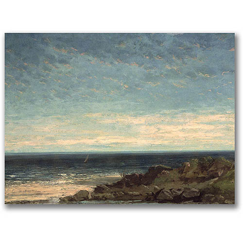 """Trademark Fine Art """"The Sea"""" Canvas Wall Art by Gustave Courbet"""
