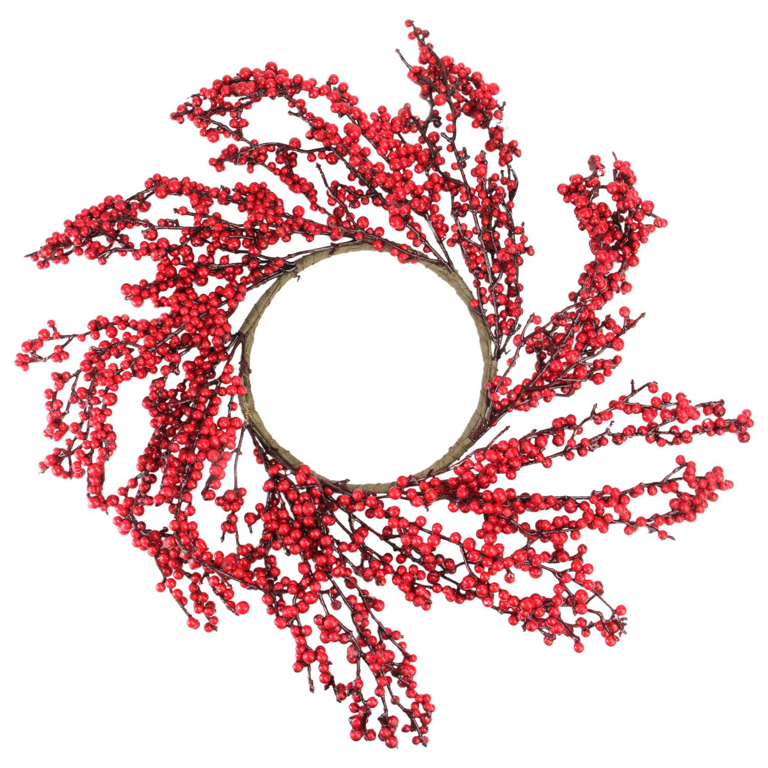 Northlight 22 in. Festive Red Berries Christmas Wreath