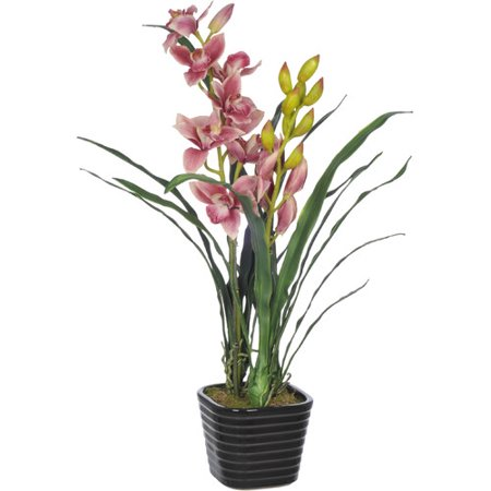 House of silk flowers inc faux fuchsia cymbidium orchid flower in house of silk flowers inc faux fuchsia cymbidium orchid flower in vase mightylinksfo