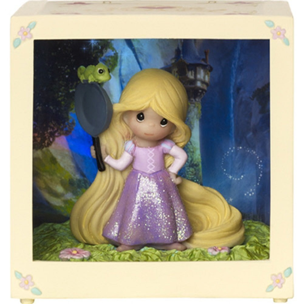 Precious Moments Disney Showcase Rapunzel Resin Vinyl LED Decorative Box by Precious Moments