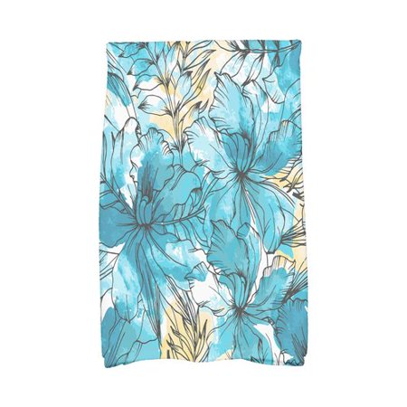 Bay Isle Home Zentangle Floral Print Kitchen Towel