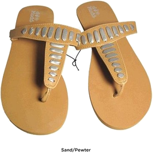Mudd FOM277 Sandals Sand/Pewter Size Large (9/10)