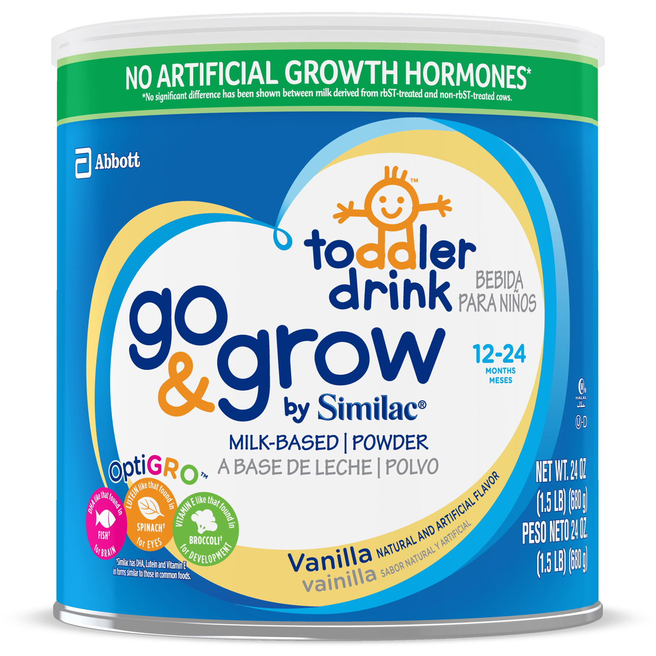 Go & Grow by Similac Toddler Drink with Iron, Vanilla, Powder, 1.5 lb