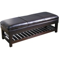 HomePop Kiki Shelf Storage Bench, Multiple Colors