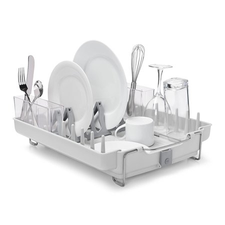 Good Grips Convertible Foldaway Dish Rack, Stainless Steel By OXO Ship from - Convertible Rack