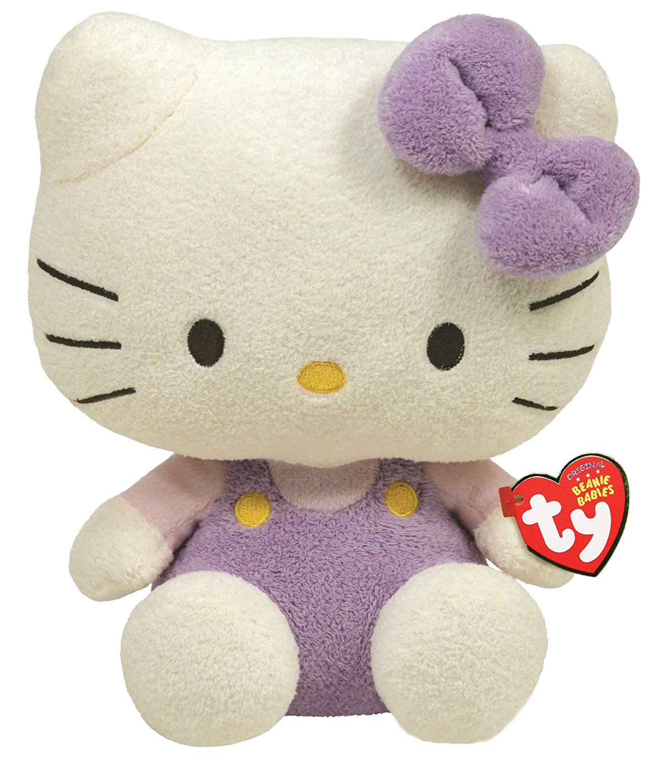 """Cp Ty Beanie Babies Hello Kitty Friends Lavendar Overalls 6"""" Plush Toys by"""