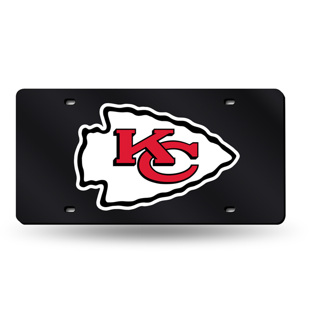 Kansas City Chiefs NFL Laser Cut License Plate Tag