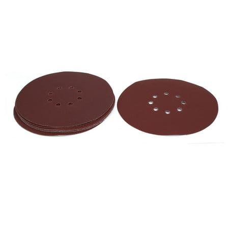 Unique Bargains 9-inch Dia 180 Grits 8 Hole Hook-And-Loop Sanding Disc Polishing Pad 10pcs ()