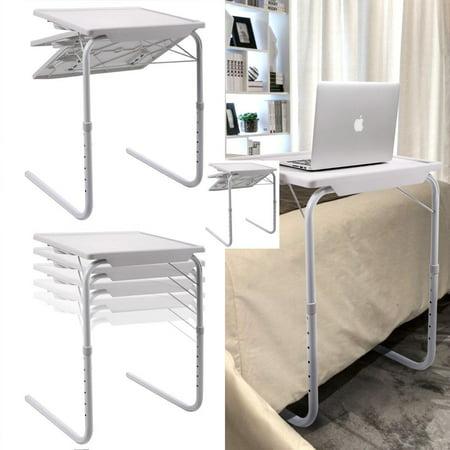 Zimtown 1 Pcs White Smart Bed Sofa Table Foldable Folding
