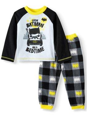 Batman Toddler Boys Long Sleeve Microfleece Pajamas, 2pc Set