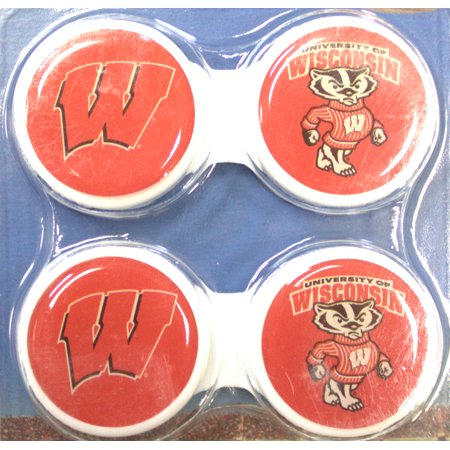 Wisconsin Badgers Contact Lens Case 2 Pack for $<!---->