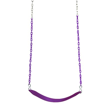 Gorilla Playsets Deluxe Swing Belt - Plum with Purple Chains