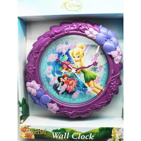 Disney Fairies Tinker Bell and Friends Violet Floral Kids Wall - Fairy Clock