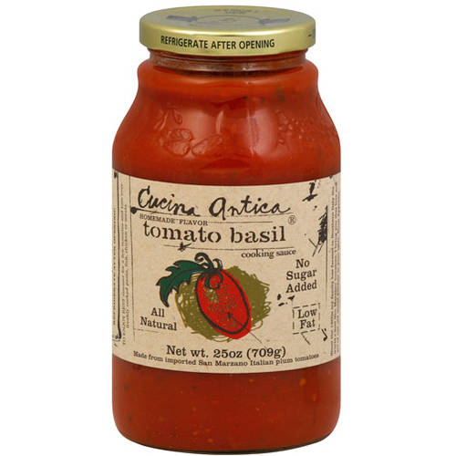 Cucina Antica Tomato Basil Cooking Sauce 25 Oz Pack Of 6