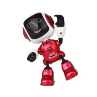 Iuhan Electric LED Sound Intelligent Alloy Robot Toys Novelty Phone Stand For Kids