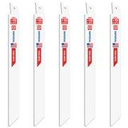 "Imperial Blades IB914-5 Reciprocating Saw Blades, 9"""