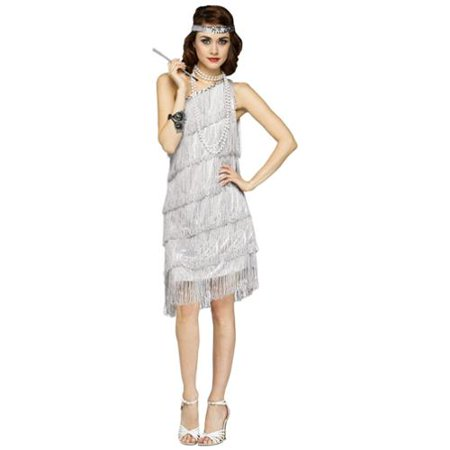 Womens Sexy Shimmery Flapper 1920s Costume - 1920s Outfits Men