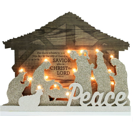 Holiday Time Christmas Decor 14 Quot Lighted Nativity Scene