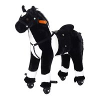 Kids Interactive Plush Battery Operated Rocking Horse Ride-On