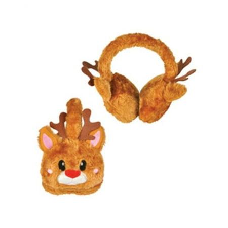 Christmas Brown Reindeer Rudolf Ear Muffs](Reindeer Ears)