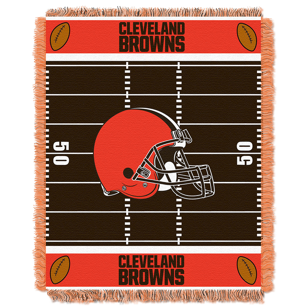 "Northwest NFL Browns Field Baby Woven Throw MULTI-COLORED 36"" X 46"""