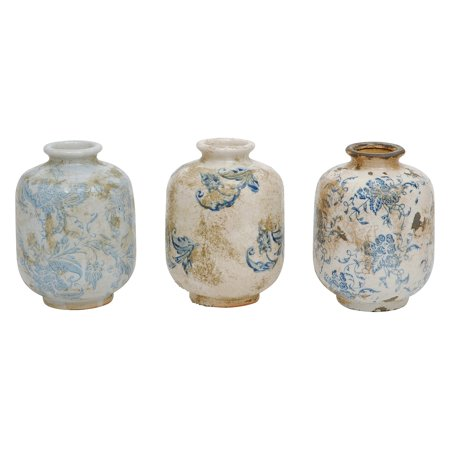 3R Studios Decorative Terracotta Vases - Set of 3