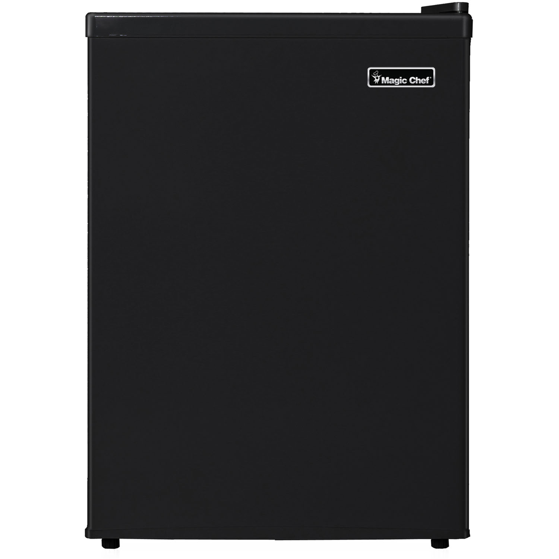 Magic Chef 2.4 Cu. Ft. Mini Refrigerator with Half-Width Freezer Compartment in Black
